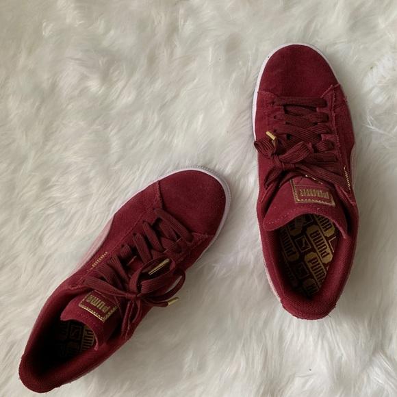 Puma Shoes   Puma Maroon Sneakers